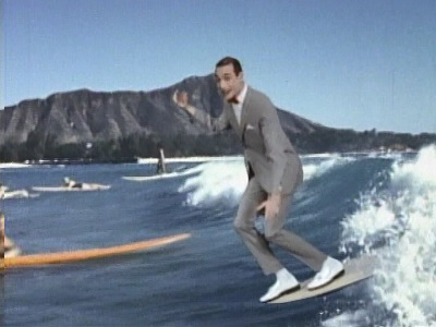 Pee-Wee's Playhouse surfing
