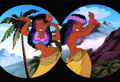 Freakazoid is History sees Hula girls