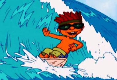 ROCKET POWER: ISLAND OF THE MENEHUNE surfing